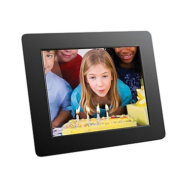 Aluratek ADMPF108F Digital Photo Frame With 512MB Built-In Memory, 8in.