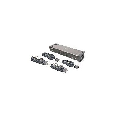 Iogear® GCS1104 DVI KVMP Switch With Audio And Cables, 4 Ports