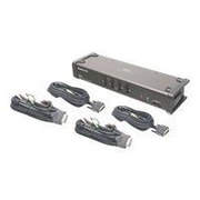 Iogear® GCS1104 DVI KVMP Switch With Audio And Cables, 4 Ports