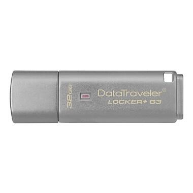 Kingston® DataTraveler® Locker+ G3 32GB USB 3.0 USB Flash Drive (Silver)