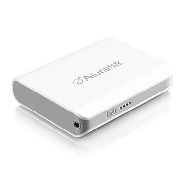 Aluratek 8000mAh Dual USB Portable Battery Charger, White