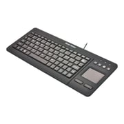 Gear Head KB3700TP Wired TouchPad Mini Keyboard, Black