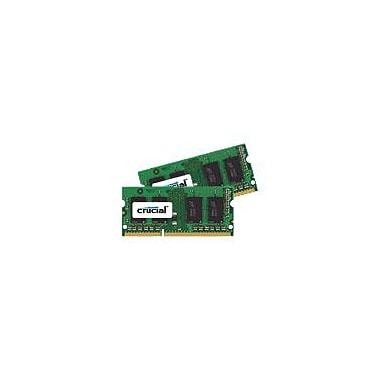 Crucial™ 8GB (2 x 4GB) DDR3 (204-Pin SODIMM) DDR3 1600 (PC3 12800) Unbuffered Notebook Memory Module