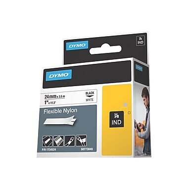 Dymo® Flexible Nylon Label Tape, 0.94in.(W) x 11.50'(L)