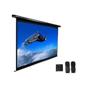 "Elite Screens™ VMAX2 Series 153"" Electric Wall and Ceiling Projector Screen, 1:1, White Casing"