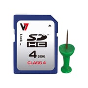 V7® VAMSDH32GCL10R-2N MicroSD High Capacity Flash Memory Card, 32GB