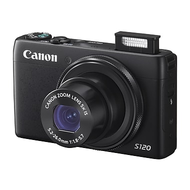 Canon® PowerShot S120 12.1MP Compact Digital Still Camera, Black