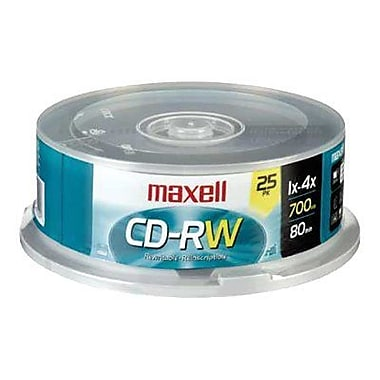 Maxell 700MB 4X CD-RW, Spindle, 25/Pack