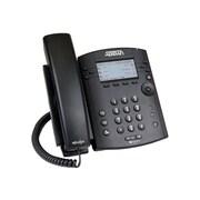 Adtran 1200853G1 VVX 300 6-Line Corded VOIP Telephone, Black