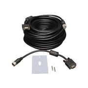 Tripp Lite 50' HD-15 Male/Female SVGA/VGA Easy Pull Monitor Extension Cable With RGB Coax, Black