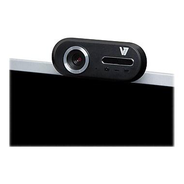 V7® CS720A0-1N Professional Webcam, 2560 x 1920 HD, 12 MP, Black/Silver