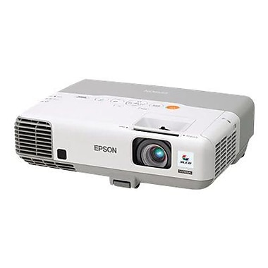 Epson PowerLite V11H565020 WXGA 3LCD Business Projector, White/Gray