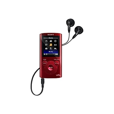 Sony® NWZE383RED 1.8in. 4GB Red Walkman MP3 Player