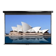 "Elite Screens M84UWH-E30 84"" Pull Down Wall and Ceiling Projector Screen, Black Casing"
