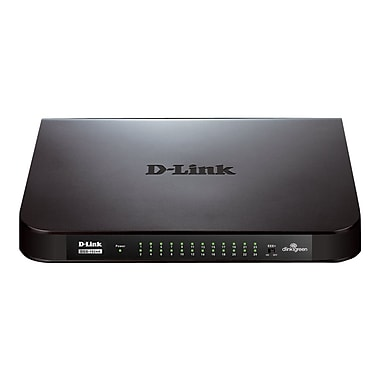D-Link® Unmanaged Gigabit Ethernet Switch, 24 Port (DGS-1024A)