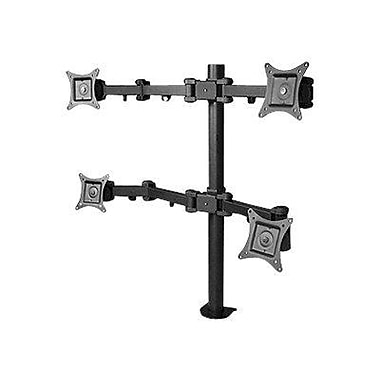 Siig® CE-MT0S12-S1 Articulating Quad Monitor Desk Mount With Extension For Up to 27in. Monitor, Black