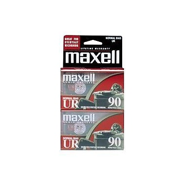 Maxell 108527-FLATPAK UR-90 Audio Cassette, 2/Pack