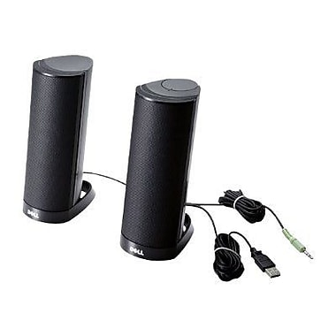 Dell™ 464-7184 AX210 1.2 W Nominal Stereo 2.0 Speaker System, Black
