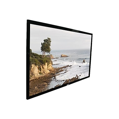 Elite Screens™ SableFrame Series 109in. Wall Mount Projector Screen, 16:9, Black Aluminum Casing