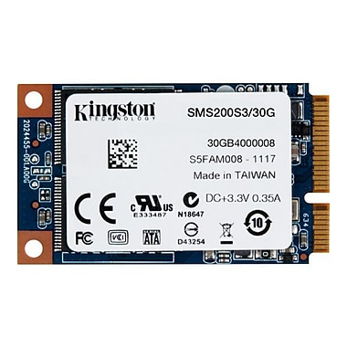 Kingston® SSDNow System Builders Solid State Drive, 1.5in. x 2.5in. Mini-SATA 600 Internal, 30GB
