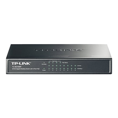 TP-LINK TL-SG1008P 8-Port Giagbit PoE Switch, 4 POE ports, IEEE 802.3af, Max Output 53W