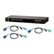 Aten® CS1308KIT USB/PS2 KVM Switch With 8 USB Cables, 8 Ports