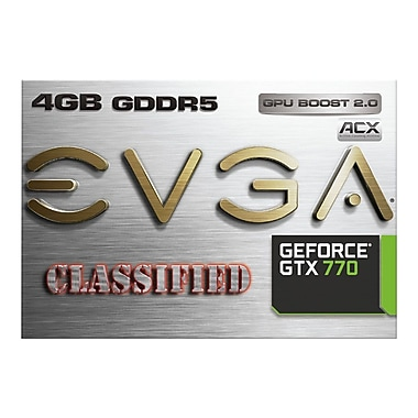 EVGA® GeForce® GTX 770 Classified 4GB Plug-In 7010 MHz Graphic Card