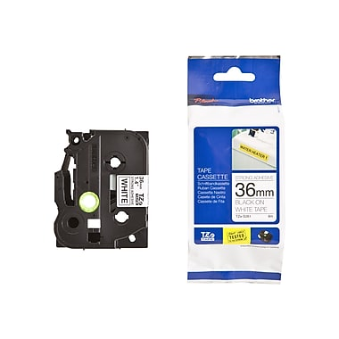 Brother® TZE Extra Strength Label Tape, 1.4in.(W) x 26.2'(L), White