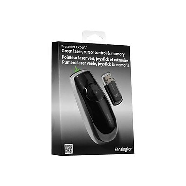 Kensington® Presenter Expert Green Laser Presentation Remote Control With Memory, Black