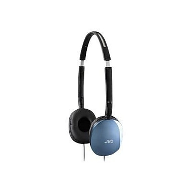JVC HAS160 Lightweight Foldable Flat Headphone, Blue