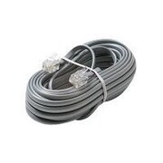 STEREN® 50' 4C Telephone Line Cord, Silver
