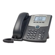 Cisco SPA502G Single Line Corded VOIP Telephone, Black/Gray