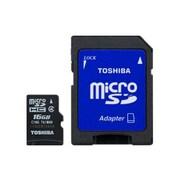 Toshiba PFM016U-1DAK 16GB MicroSD Memory Card With STD Adapter