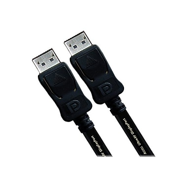 Accell B142C-007B-2 6.6' DisplayPort to DisplayPort 1.2 Cable, Black