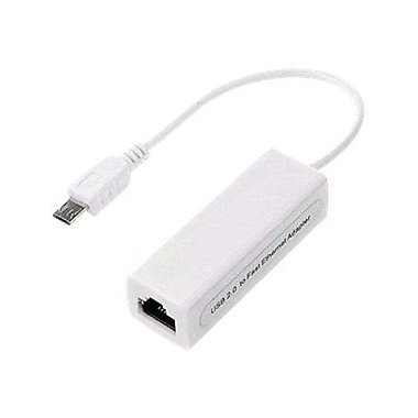 4XEM™ 4XMICROUSBENET Micro USB to 10/100 Mbps Ethernet Adapter