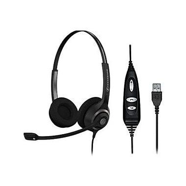 Sennheiser SC 260 USB CTRL 504406 Wired Headset, Black/Silver