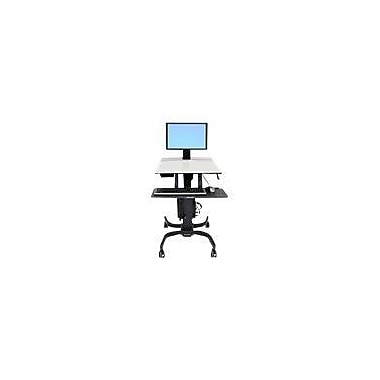 Ergotron® WorkFit-C Single LD Sit-Stand Workstation, Fits Up to 24