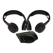Pyle PLVWH6 Dual Wireless IR Mobile Video Stereo Headphone with Transmitter, Black