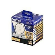 Brother® CD/DVD White Film Labels, 100/Pack