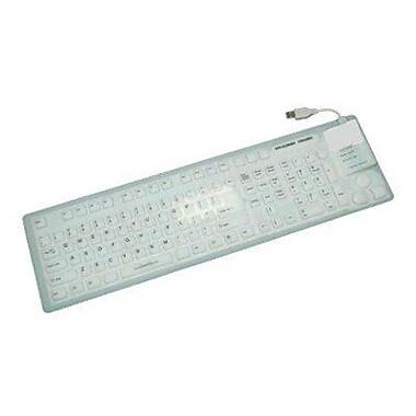 GRANDTEC USA FLX-7000 USB Virtually Indestructible Keyboard, White