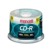 Maxell 648250 700 MB CD-R Spindle, 50/Pack