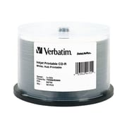 Verbatim® DataLifePlus 700MB White Inkjet Hub Printable CD-R, Spindle, 50/Pack