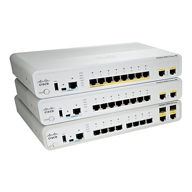 Cisco® Managed Compact Ethernet Switch, 10 Ports (WS-C2960CG-8TC-L)