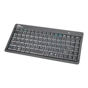 SIIG JK-WR0512-S1 USB RF Wireless Ultra Slim Mini Keyboard, Black