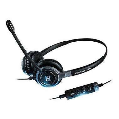 Sennheiser Century SC 660 USB CTRL Stereo Headset With Microphone, Black/Silver