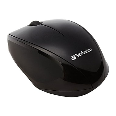 Verbatim 97992 USB Wireless Multi-Trac Blue LED Optical Mouse, Black