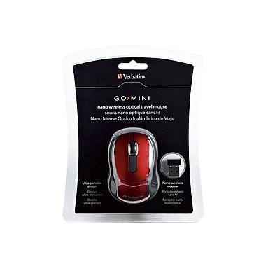 Verbatim® 97540 Wireless Optical Mini Travel Mouse