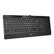 Siig® JK-US0812-S1 1.1 USB Slim Ergonomic Multimedia Wired Keyboard With Palm Rest, Black