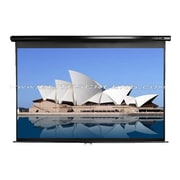 Elite Screens™ Manual Series 113 Pull Down Wall and Ceiling Projector Screen, 1:1, White Casing