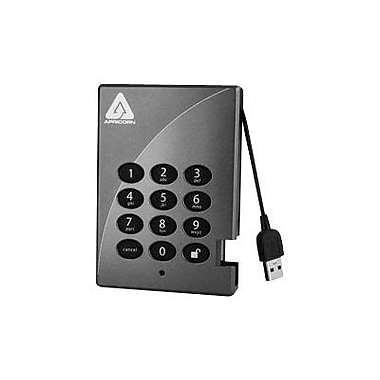 Apricorn Aegis Padlock Secure 500GB USB 2.0 External Hard Drive With 256-Bit AES Encryption